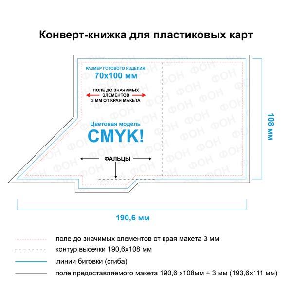 Конверт-папка 70х100 мм для пластиковой карты